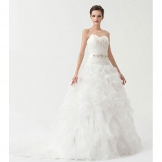 Inexpensive Ball Gown Sweetheart Court Train Wedding Dresses