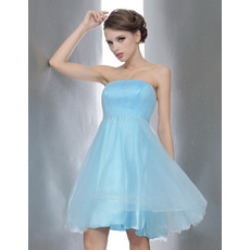 Pretty Princess Strapless Short Bridesmaid/ Homecoming/ Cocktail Dresses