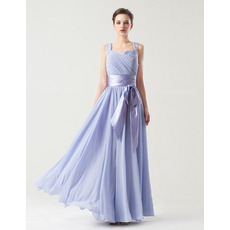 Affordable A-Line Sweetheart Floor Length Chiffon Bridesmaid Dresses