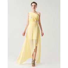 Spring/ Summer One Shoulder Asymmetric Chiffon Bridesmaid Dresses