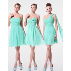 Discount Sexy A-Line Short Chiffon Bridesmaid Dresses for Summer