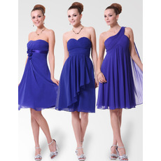 Inexpensive Custom Short Chiffon Bridesmaid Dresses for Summer