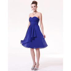 Discount Summer Empire Sweetheart Short Chiffon Bridesmaid Dresses
