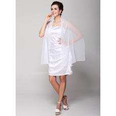 Inexpensive Sexy Column Spaghetti Straps Short Satin Bridesmaid Dresses