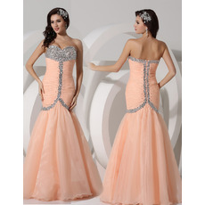 Affordable Mermaid Sweetheart Long Chiffon Evening/ Prom Dresses