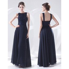 Formal and Elegant Sheath Floor Length Chiffon Evening/ Prom Dresses