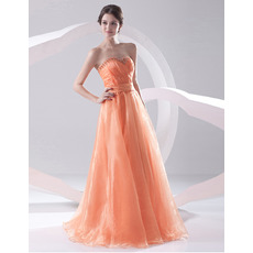 Spring Stylish Sweetheart Sweep Train Evening/ Prom Dresses