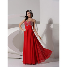 Discount A-Line Sweetheart Floor Length Chiffon Evening/ Prom Dresses
