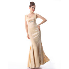 Discount Mermaid Satin Long Evening/ Prom Dresses with Lace Jackets