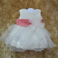 Ball Gown Tea Length Organza Flower Girl Dresses