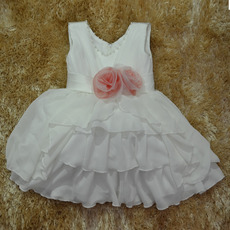 Ball Gown Knee Length Chiffon First Communion/ Flower Girl Dresses