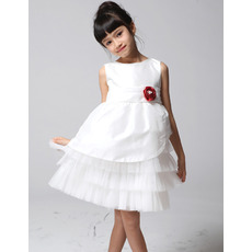 A-Line Knee Length First Communion/ Flower Girl Dresses