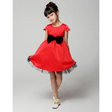 A-Line Cap Sleeves Short First Communion/ Flower Girl Dresses