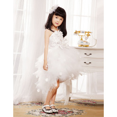 Ball Gown Spaghetti Straps Short Tulle Flower Girl Dresses