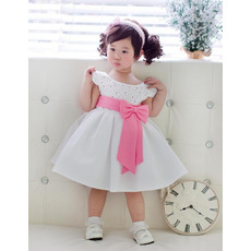 A-Line Cap Sleeves Knee Length Flower Girl Dresses