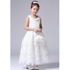 Ankle Length Floral First Communion/ Flower Girl Dresses