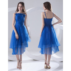 Fashionable Spaghetti Straps Short Organza Homecoming Dresses