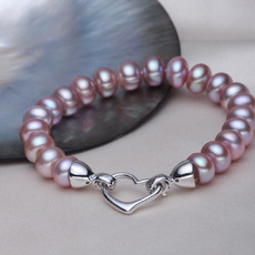 Inexpensive Multicolor 8.5 - 9.5mm Freshwater Off-Round Bridal Pearl Bracelet