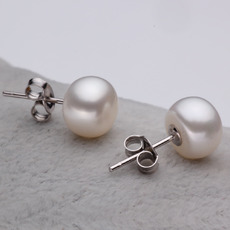 White 8 - 8.5mm Freshwater Off-Round Bridal Pearl Earring Set