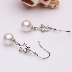 White 7.5 - 8mm Freshwater Round Bridal Pearl Earring Set