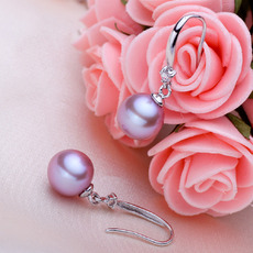 White/ Pink/ Purple 8 - 8.5mm Freshwater Round Pearl Earring Set