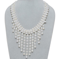 Affordable White 6 - 7mm Freshwater Drop Pearl Necklace
