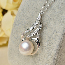Elegant White Off-Round 10.5 - 11mm Freshwater Natural Pearl Pendants