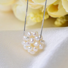 Discount Cute White/ Purple Ball 4-5mm Freshwater Natural Pearl Pendants