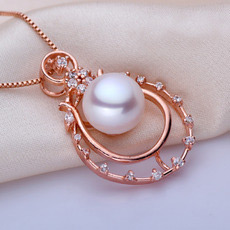 White/ Pink/ Purple Off-Round Freshwater Natural Pearl Pendants