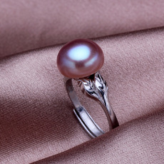 Stunning Pink/ White/ Purple 9.5 - 10.5mm Freshwater Pearl Ring