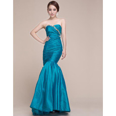 Custom Mermaid Sweetheart Floor Length Taffeta Evening/ Prom Dresses