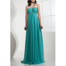 Sexy Chiffon Empire Spaghetti Straps Long Evening/ Prom Dresses