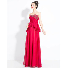 Sexy and Elegant Chiffon Sweetheart Column Floor Length Evening Dresses