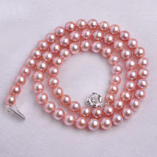 Affordable Classic Pink 6 - 6.5mm Freshwater Round Pearl Necklaces