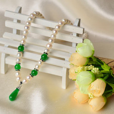 Gorgeous White 7 - 8mm Freshwater Off-Round Bridal Pearl Necklaces