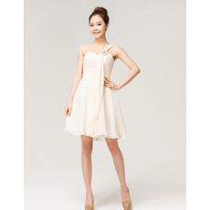Custom Chiffon One Shoulder A-Line Short Beach Wedding Dresses