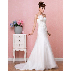 Discount Custom A-Line Sweetheart Brush/ Sweep Train Satin Dresses