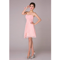 Affordable Elegant A-Line Sweetheart Short Chiffon Bridesmaid Dresses