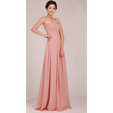 Elegant Sweetheart Chiffon Floor Length Empire Bridesmaid Dresses