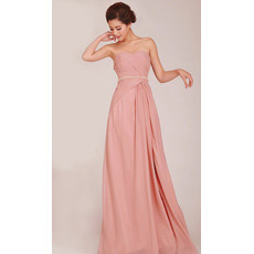 Discount A-Line Sweetheart Long Chiffon Bridesmaid Dresses