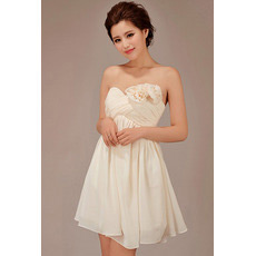 Inexpensive Short Empire Sweetheart Chiffon Bridesmaid Dresses