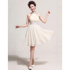 Affordable Stylish Halter Chiffon Short A-Line Cocktail Dresses