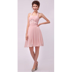 Custom Elegant and Sexy Halter Chiffon Short A-Line Cocktail Dresses