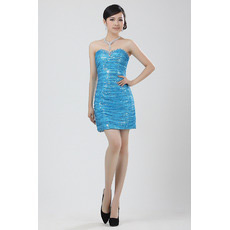 Sequined Column/ Sheath Sweetheart Short Dresses for Cocktail Party