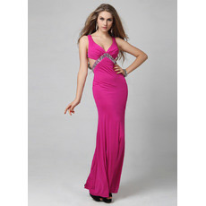 Sexy and Chic Mermaid/ Trumpet Floor Length Satin Evening Dresses