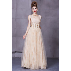Sexy Chiffon A-Line Straps Floor Length Evening Dresses for Prom