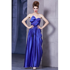 Satin Column/ Sheath Sweetheart Floor Length Evening Dresses for Prom