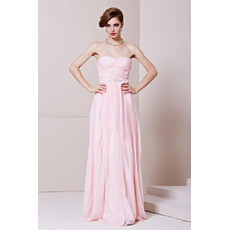 Affordable Chiffon Sweetheart Floor Length Column Evening Dresses