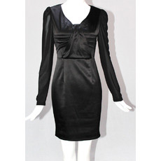 Black Long Sleeves Short Sheath Mother of the Bride/ Groom Dresses