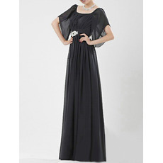 Cap Sleeves Chiffon Floor Length Mother of the Bride/ Groom Dresses